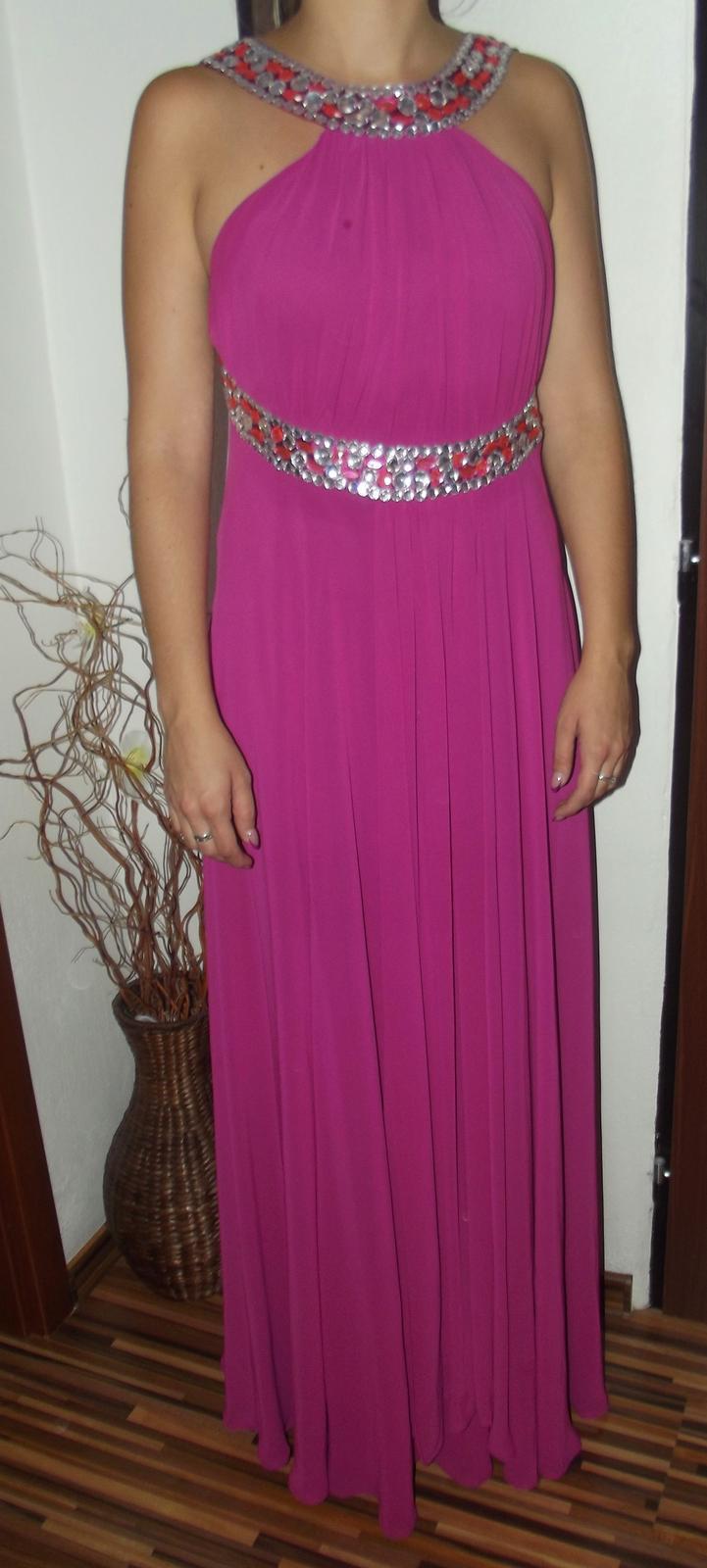 2f580df9e8f4 Ružovo cyklamenové spoločenské šaty - dlhé