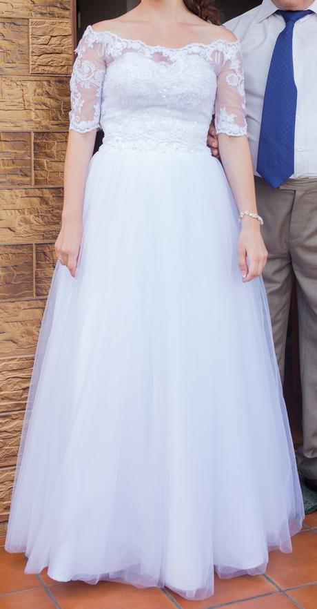 Prekrásne svadobné šaty,č.36,v cene aj pošta , 36