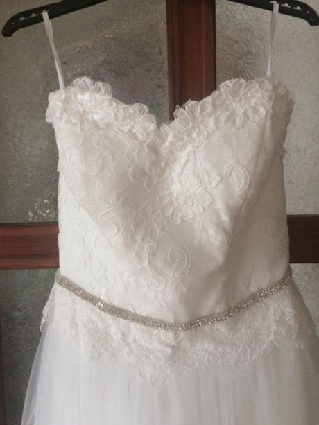 Luxusní korzetové svatební šaty- akce pouze dnes, 36