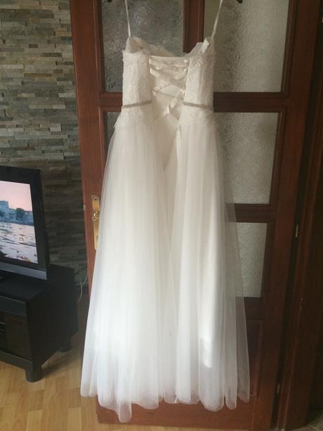 Luxusní krajkové svatební šaty vel.36-38, 36