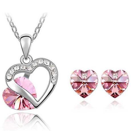 set šperků s krystaly Swarovski,