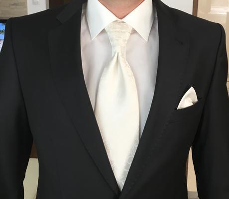 Svadobna vedta, 2x kravata,2x vreckovka, gombiky, 48