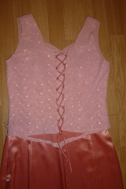 Ružové jednoduché spoločenské šaty, 38