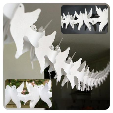 Girlanda papierová - holúbky 3 m,