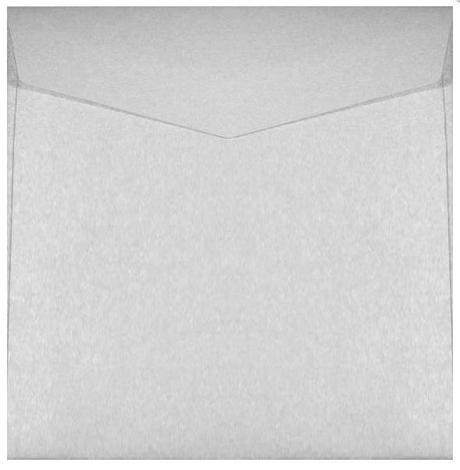 Obálka 140 x 140 mm biela perleťová,