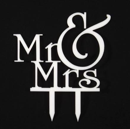 Ozdoba na tortu Mr&Mrs,