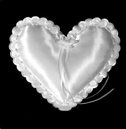 Poduška na obrúčky - srdce ,