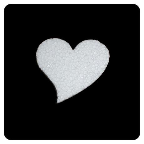 Polystyrénové srdce 11x11 cm,