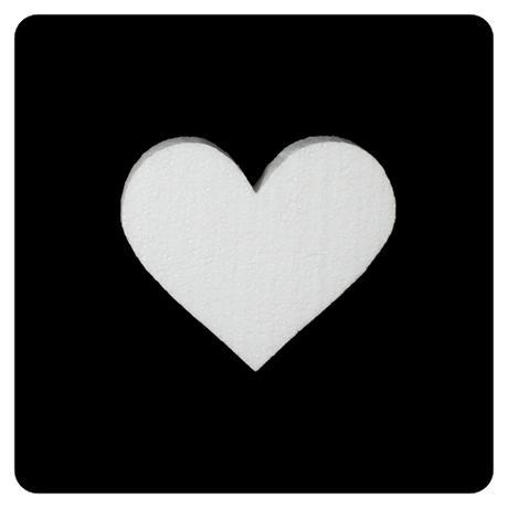 Polystyrénové srdce 13x12 cm,