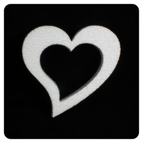 Polystyrénové srdce 18x17 cm (2),