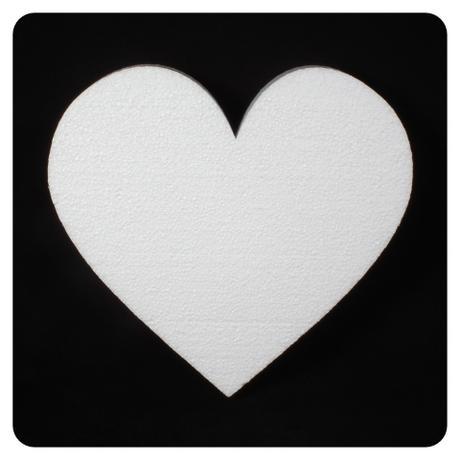 Polystyrénové srdce 30x25 cm,