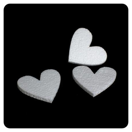 Polystyrénové srdce 8,5x7,5 cm,