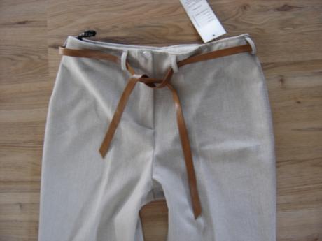 3/4 elegantné nohavice s opaskom , 40