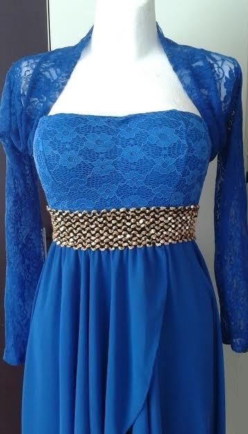 Asymetrické šaty a bolerkom-oblečené 1x-veľ.S/M, 36