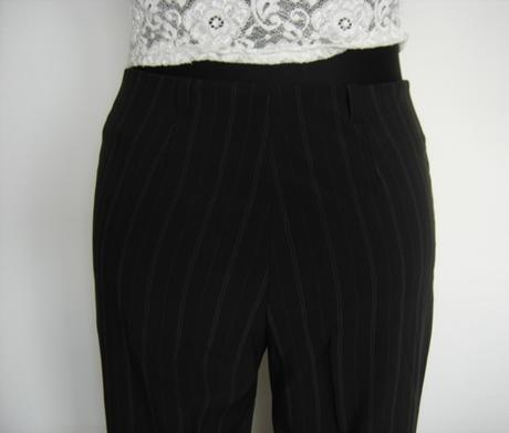 Elegantné čierne nohavice, 38