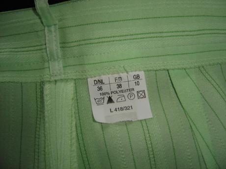 Elegantne nohavice v pistáciovej farbe, 38