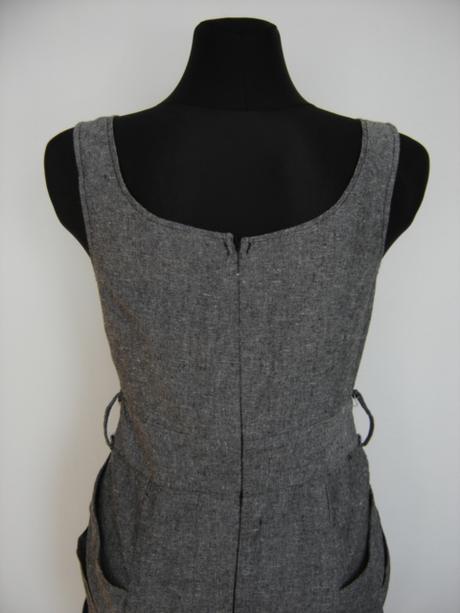Šedé šaty - veľ.M, 38