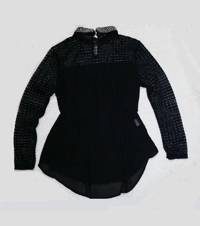 Šifónová košeľa, blúzka s krajkou - nenosená, 38