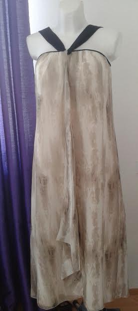 Šifónové maxi šaty voľného strihu-Marks&Spencer, 38