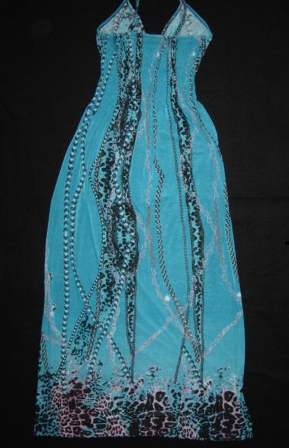 Tyrkysové dlhé šaty-oblečené 1x-veľ. S/M, 38
