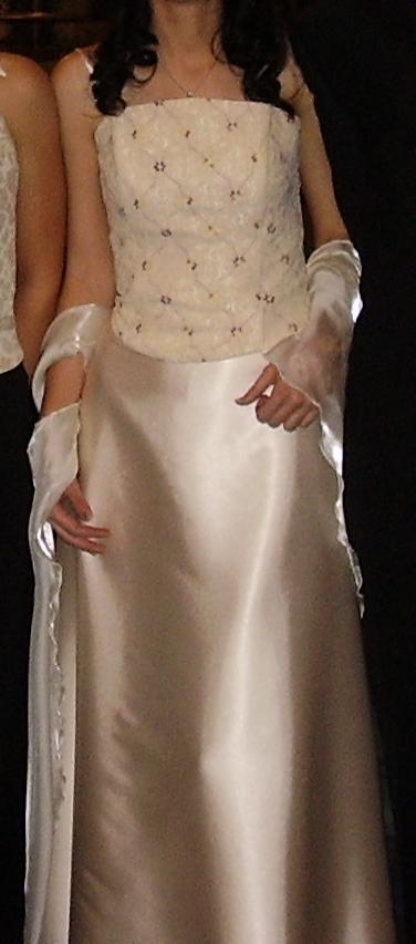 Korzetové šaty oblečené 2x, M