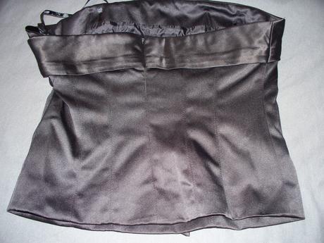 Čierny korzetový top, 36