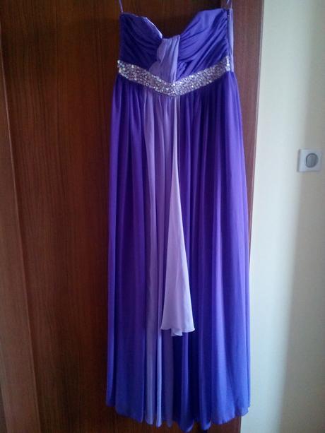 Fialové šaty, L