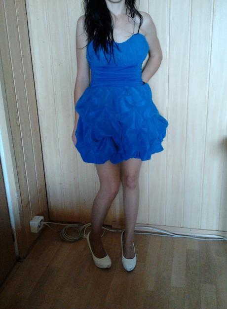 Modré šaty - M - L, M