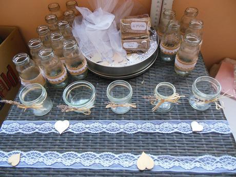 Vintage ručně vyráběné svícny,