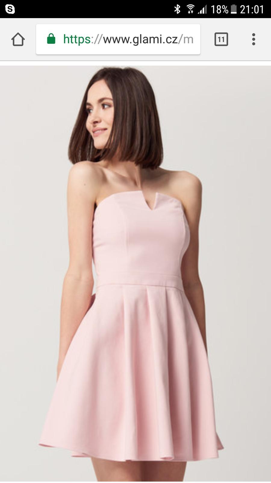 3cb454166ca6 Pudrově růžové šaty