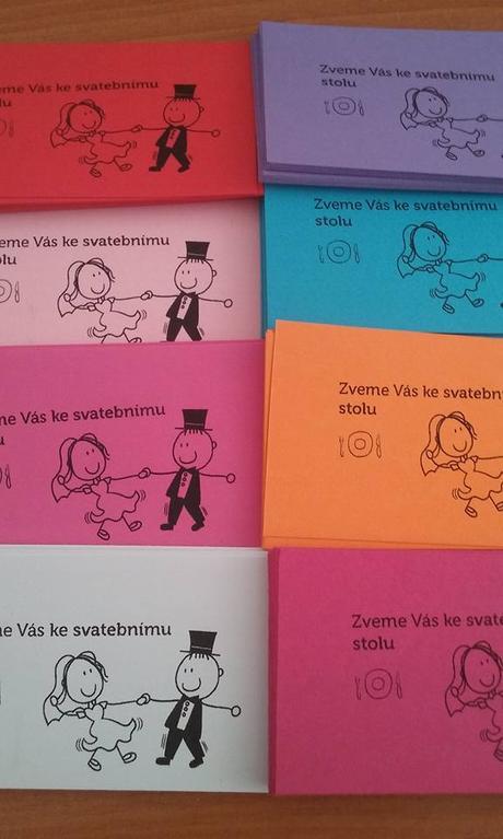 svatebni oznameni v barve vasi svatby a pozvanky ,