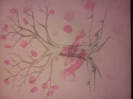 svatebni strom na otisky ,