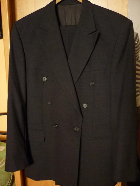 Pánský černý oblek, L
