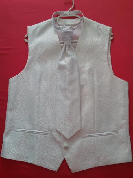 Svadobná vesta Pavanna + kravata (M), 48