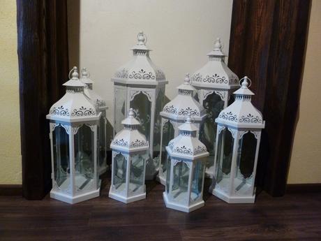 Biele svadobné lampáše na prenájom,