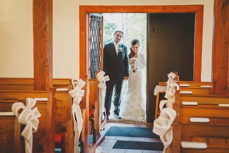 Svadobné mašle na výzdobu kostola,