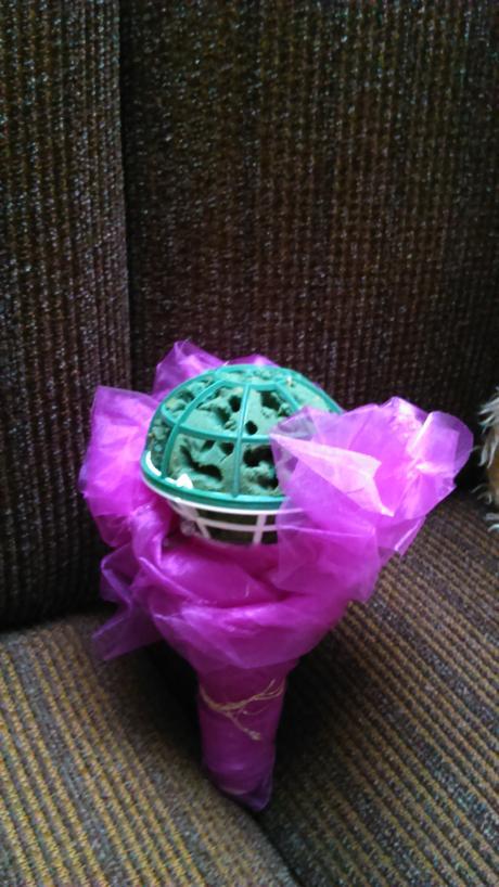 korpus na svatební květinu zelený,