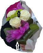 vázání organzy do květin s drátkem,