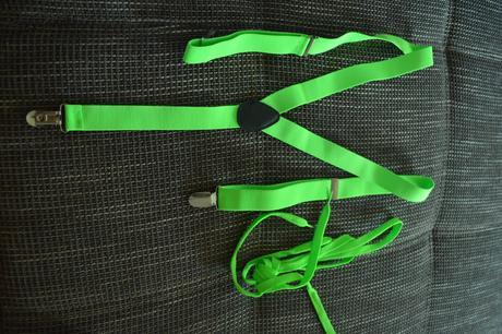 Neonovo zelené traky a šnúrky do topanok ,