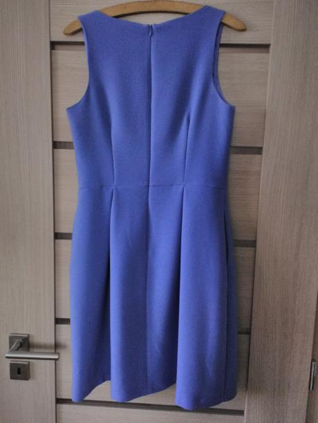 Modrofialové šaty s kapsami, 40