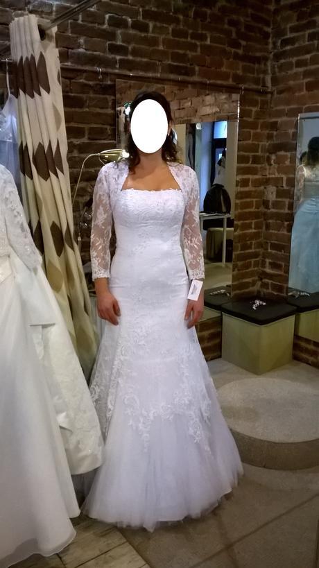 Svatební šaty krajkové s tylem, sněhově bílé, 38