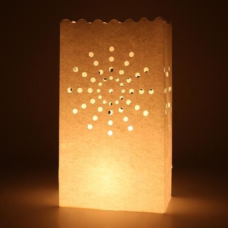 100 ks pytlíků na svíčky - romantická dekorace,