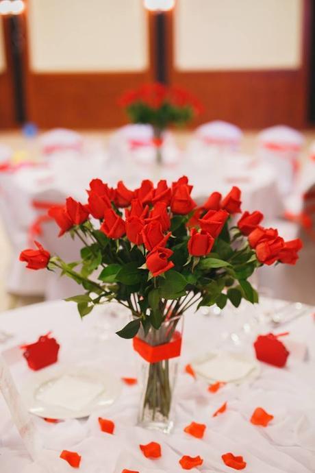 červené ruže výzdoba,