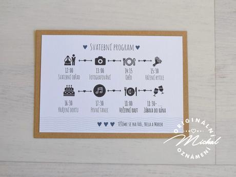 Svatební oznámení - TYP 12,