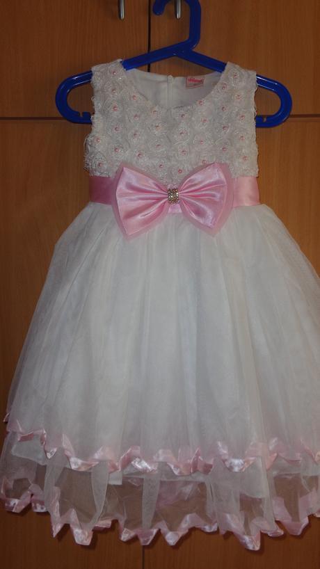 Bielo-ružové šatky s perlami, 104