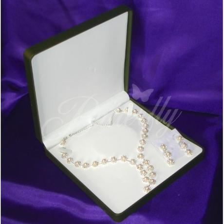 2-dielny set - perlový náhrdelník, náušnice,