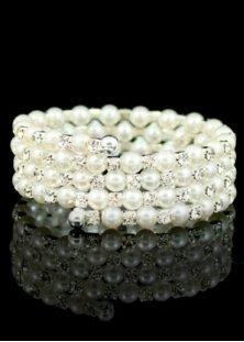 4radový perlový náramok,
