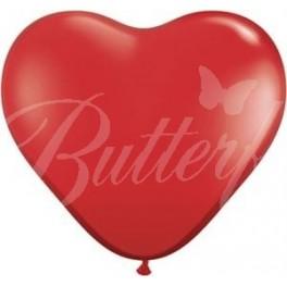 Balón srdce - veľký, červený,