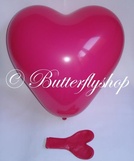 Balón srdce - veľký, cyklaménový,