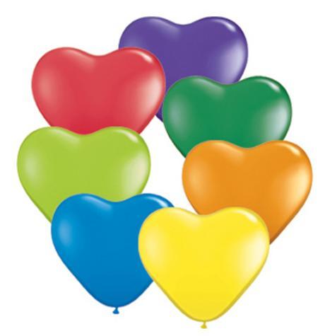 Balóny v tvare srdca - rôzne farby,
